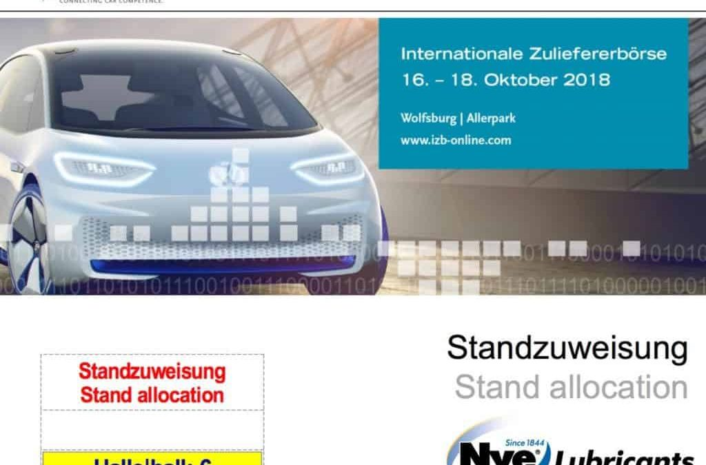 Confirmation of stand number at the IZB 2018 show in Wolfsburg