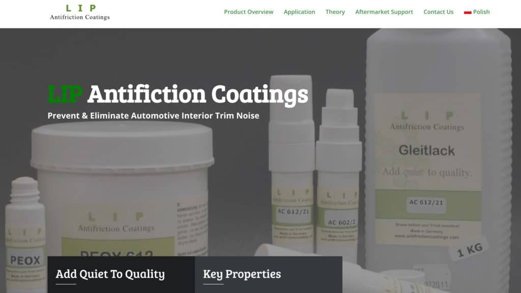 New version of the Antifriction Coatings website