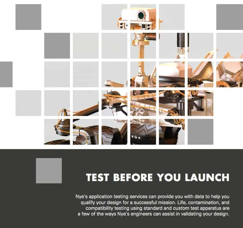 Product launch assistance from Nye Lubricants ADVT Lab